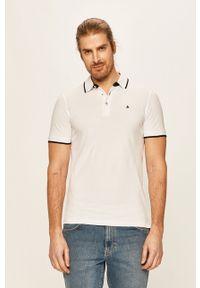 Biała koszulka polo Jack & Jones polo, na co dzień, gładkie