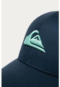 Niebieska czapka z daszkiem Quiksilver z aplikacjami