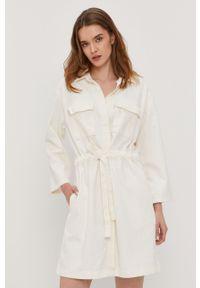 Biała sukienka Levi's® mini, gładkie