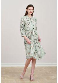 Marie Zélie - Sukienka Noelia Pomum. Materiał: wiskoza, tkanina, materiał, bawełna