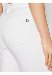 Białe jeansy slim Luisa Spagnoli