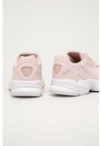 Różowe buty sportowe adidas Originals z okrągłym noskiem, z cholewką, na sznurówki