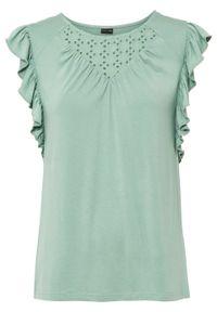 Zielona bluzka bonprix na lato