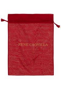 RENE CAOVILLA - Dwukolorowe sneakersy Xstra. Nosek buta: okrągły. Kolor: biały. Wzór: kolorowy #4