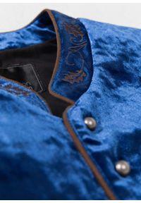 Kamizelka w ludowym stylu bonprix niebieski. Kolor: niebieski. Wzór: haft. Styl: klasyczny