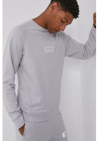 Calvin Klein Performance - Bluza bawełniana. Okazja: na co dzień. Kolor: szary. Materiał: bawełna. Długość rękawa: raglanowy rękaw. Wzór: nadruk. Styl: casual