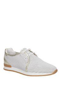 Białe buty sportowe Casu w kolorowe wzory