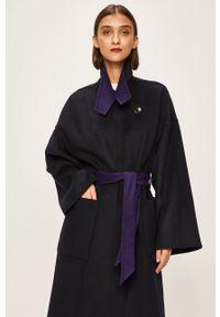Fioletowy płaszcz Patrizia Pepe bez kaptura