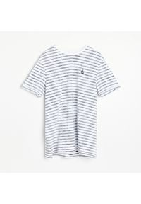 Reserved - T-shirt w paski - Niebieski. Kolor: niebieski. Wzór: paski