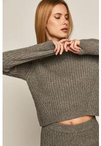 medicine - Medicine - Sweter Black Art. Okazja: na co dzień. Kolor: szary. Długość rękawa: długi rękaw. Długość: długie. Styl: casual