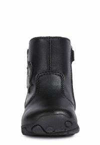 Czarne buty zimowe Geox na zimę, z cholewką