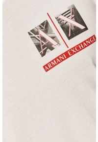 Armani Exchange - T-shirt. Okazja: na co dzień. Kolor: biały. Wzór: nadruk. Styl: casual
