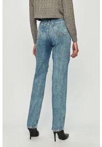 Niebieskie proste jeansy TALLY WEIJL z podwyższonym stanem