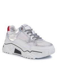 Sneakersy GOE - FF2N3007 White/Silver. Kolor: biały. Materiał: materiał. Szerokość cholewki: normalna. Obcas: na płaskiej podeszwie