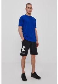 Under Armour - T-shirt. Kolor: niebieski. Materiał: dzianina, materiał. Wzór: gładki