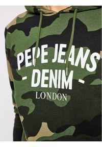 Pepe Jeans Bluza Cam PM581882 Zielony Regular Fit. Kolor: zielony