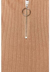 Różowy sweter Brave Soul z długim rękawem, na co dzień, casualowy, krótki