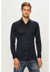 Niebieska koszula Lacoste z długim rękawem, casualowa, na co dzień