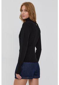 TwinSet - Twinset - Sweter. Typ kołnierza: golf. Kolor: czarny. Materiał: dzianina. Długość rękawa: długi rękaw. Długość: długie