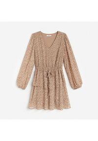 Brązowa sukienka Reserved mini