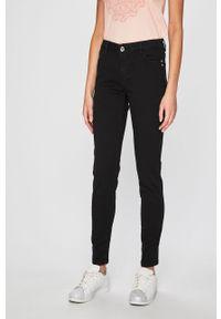 Czarne spodnie materiałowe Morgan