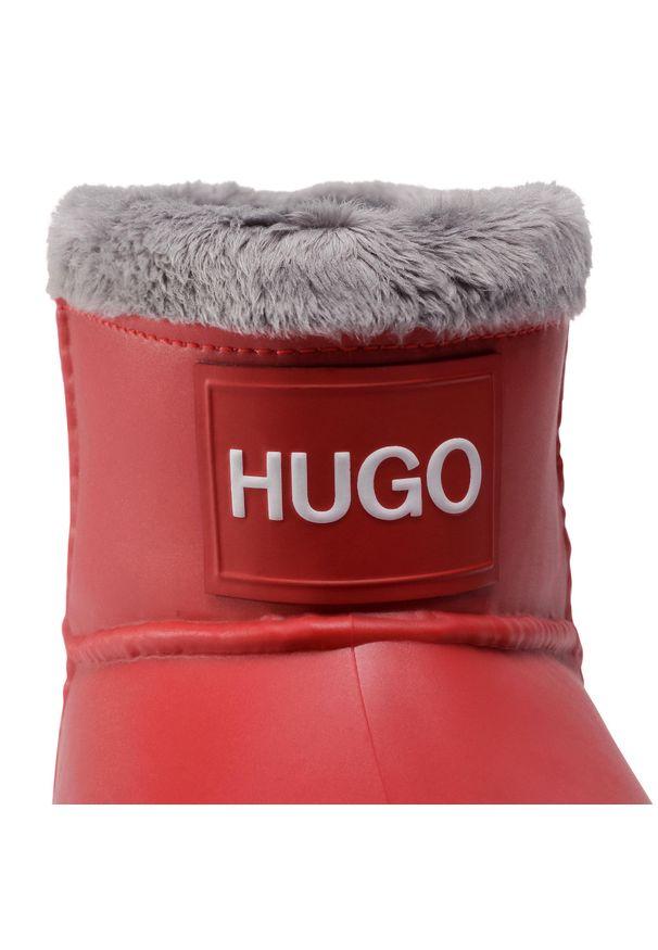 Czerwone kalosze Hugo z cholewką
