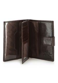 Wittchen - Męski portfel ze skóry z herbem na napę. Kolor: brązowy. Materiał: skóra