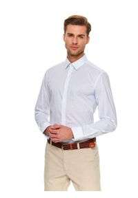 Biała koszula TOP SECRET w kolorowe wzory, z długim rękawem
