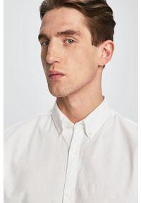 Biała koszula Premium by Jack&Jones button down, casualowa, długa