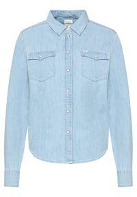 Lee Koszula Western L45SZSNJ Niebieski Regular Fit. Kolor: niebieski. Materiał: jeans