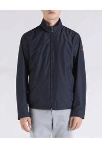 PAUL & SHARK - Granatowa kurtka Typhoon Save The Sea. Okazja: na co dzień. Kolor: niebieski. Materiał: jeans, tkanina, bawełna. Styl: sportowy, wakacyjny, casual