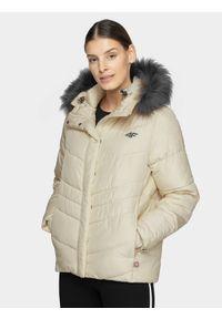 Beżowa kurtka zimowa 4f
