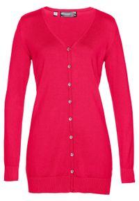 Czerwony sweter bonprix długi, elegancki