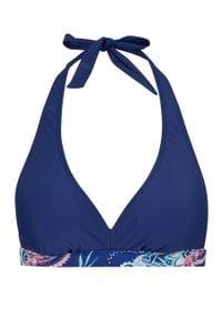 Biustonosz bikini z ramiączkami wiązanymi na szyi bonprix niebieski. Kolor: niebieski