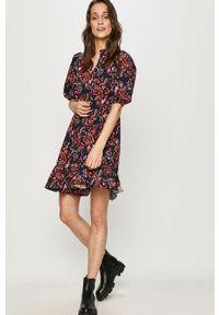 Wielokolorowa sukienka Answear Lab mini, prosta