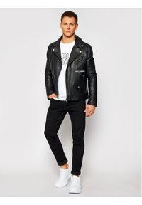 Karl Lagerfeld - KARL LAGERFELD Bluza Crewneck Ikonik 705029 511900 Biały Regular Fit. Typ kołnierza: dekolt w karo. Kolor: biały