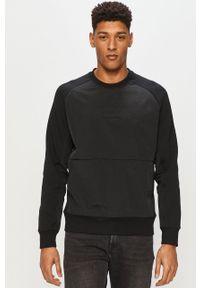 Czarna bluza nierozpinana Calvin Klein Jeans bez kaptura, raglanowy rękaw