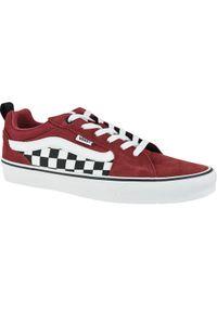 Czerwone buty sportowe Vans z cholewką