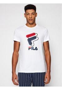 Fila T-Shirt Amparo 688464 Biały Regular Fit. Kolor: biały