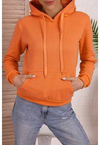 Pomarańczowa bluza IVET na co dzień, z kapturem, casualowa
