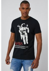 medicine - Medicine - T-shirt Licence Mix. Kolor: czarny. Materiał: bawełna, dzianina, włókno. Wzór: nadruk