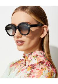 Tom Ford - TOM FORD - Czarne okulary przeciwsłoneczne Kelly. Kształt: okrągłe. Kolor: czarny