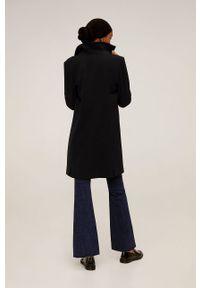 Czarny płaszcz mango bez kaptura, na co dzień #8