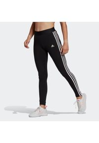 Legginsy fitness damskie Adidas. Materiał: bawełna, elastan. Wzór: paski. Sport: fitness
