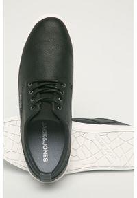 Czarne sneakersy Jack & Jones z okrągłym noskiem, na sznurówki