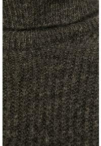 Szary sweter only z golfem, długi, z długim rękawem #5