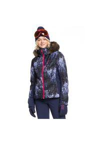 Kurtka damska snowboardowa Roxy Snowstorm Plus ERJTJ03240. Materiał: włókno, syntetyk, futro, materiał, poliester, puch, mikrofibra. Technologia: Primaloft. Sezon: zima. Sport: snowboard