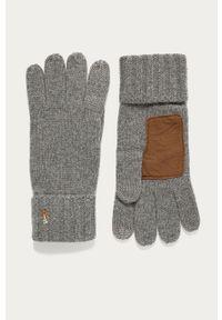 Szare rękawiczki Polo Ralph Lauren