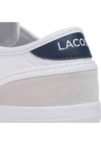 Białe półbuty Lacoste z cholewką