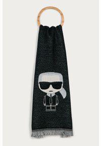 Niebieski szalik Karl Lagerfeld klasyczny